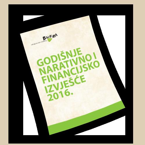 Godišnje narativno i financijsko izvješće 2016.
