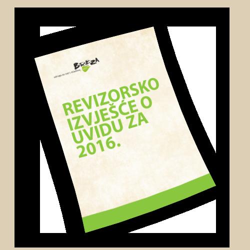 Revizorsko izvješće o uvidu za 2016.